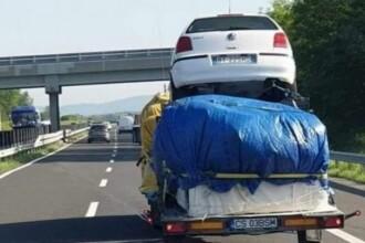 Imaginile cu un român pe autostrada din Ungaria, subiect de ironii