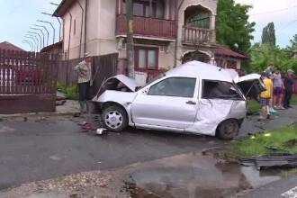 Accident în Dâmbovița, după ce un șofer a încercat o depășire periculoasă
