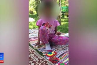 Noi imagini cu fetiţa din Mehedinți, la familia adoptivă. Ipostazele în care a fost filmată