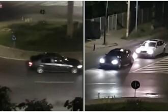 Doi tineri filmați într-un sens giratoriu din Bacău sunt căutați de polițiști. Care e motivul