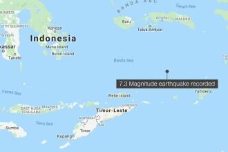 Un cutremur violent de 7,3, a lovit estul Indoneziei și s-a resimțit până în Bali