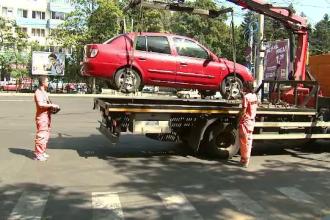 Reîncepe ridicarea mașinilor în București. Cat va costa recuperarea autoturismului