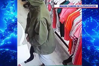 Furt dintr-un magazin de lenjerie intima în Bacău, surprins de camerele de supraveghere