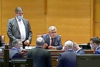 """Fostul ministru al Justiției, Florin Iordache, fără mască în Parlament. """"Orban a fost amendat"""""""