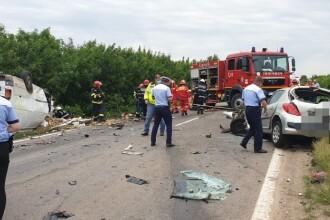 Zi neagră pe șoselele din Teleorman. 5 oameni au murit, 6 mașini implicate