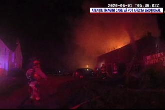 Imagini dramatice în SUA. O fetiță de 12 ani a fost salvată la limită dintr-un incendiu