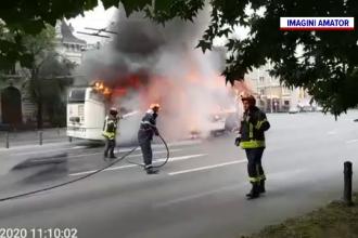 Scandal în jurul troleibuzului care a ars în București. Fumul, vizibil de la sute de metri