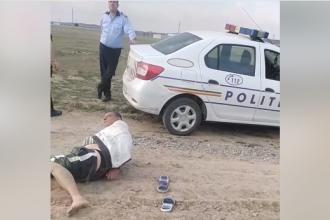 """VIDEO: Un căruțaș susține că a fost bătut până la sânge, """"degeaba"""", de poliție și jandarmi"""