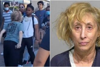 Ce a pățit o femeie de 64 de ani după ce a scuipat un tânăr de culoare la un protest în SUA