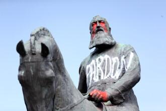 VIDEO. Statuia unui fost rege al Belgiei, înlăturată din cauza protestelor împotriva rasismului