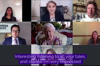 Regina Elisabeta a II-a a susținut prima conferintă publică video, la 94 de ani