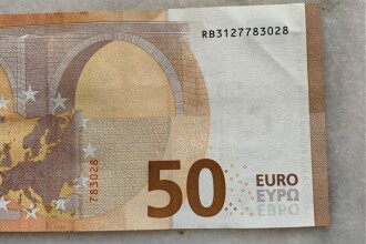 Bancnote false de 50 € aduse din Italia în România. Cele 15 orașe în care au fost distribuite