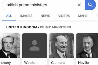 Fotografia lui Churchill a dispărut pentru scurt timp de pe Google