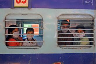 Coronavirusul face ravagii în India. 500 de vagoane de tren, transformate în spitale
