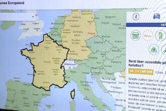 Hartă interactivă unde cei care vor să călătorească în UE găsesc toate regulile
