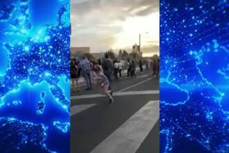 VIDEO. Momentul în care un bărbat este împușcat în timpul unui protest din New Mexico