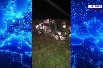 Accident grav în Timiș. Doi bărbați au decedat după ce au intrat cu mașina într-o autoutilitară
