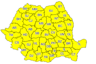 ANM: Cod galben de ceaţă în 12 judeţe din Transilvania şi Moldova