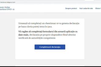 Formular online, obligatoriu pentru toți cei care aterizează pe aeroportul Otopeni