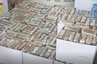 Captură uriașă de cocaină în Spania. Unde au ascuns traficanții drogurile