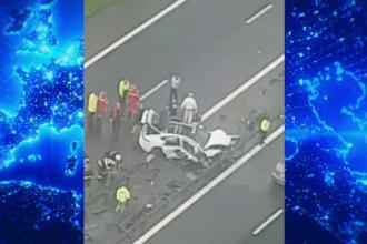 Tragedie pe Autostrada Soarelui. O mașină s-a făcut bucăți în drum spre mare