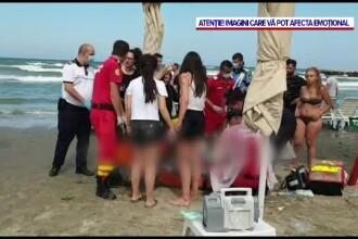 Un copil a dispărut în mare, la Mamaia. Paramedicii au reușit să scoată din apă un adolescent