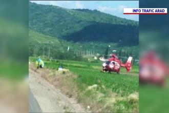 Un bărbat de 30 de ani care zbura cu parapanta s-a prăbușit pe un câmp din Arad