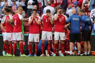Momente de groază la EURO 2020, după ce danezul Eriksen s-a prăbuşit pe teren. UEFA a anunțat că starea sa este stabilă