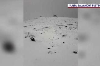 Peisaj de iarnă în Bucegi, după o ninsoare abudentă. Imaginile surprinse de salvamontiști
