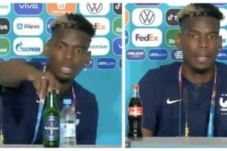 Ce se va întâmpla cu sticlele plasate la conferințele de presă de la EURO 2020. Decizia UEFA