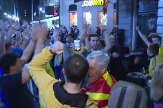 Duelul Ucraina - Macedonia de Nord s-a dat deja între suporteri, care au împânzit terasele din Centrul Vechi