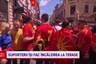 EURO 2020. Suporterii Macedoniei de Nord au invadat Centrul Vechi al Capitalei și sărbătoresc deja