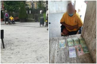 Câți bani face un cerșetor în România în doar 3 ore! Polițiștii care i-au numărat banii au rămas fără cuvinte