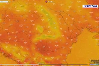 Cod roșu și portocaliu de caniculă în jumătate din țară, până vineri. Ar putea urma furtuni violente