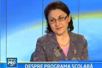 Ecaterina Andronescu: Reducem programa pentru a face scoala mai atractiva