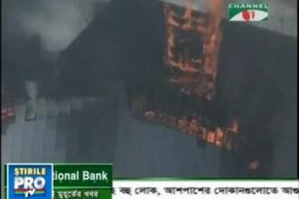 Incendiu de proportii la un mall din Bangladesh. VEZI VIDEO