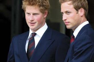 Vezi imagini inedite cu printii William si Harry ai Marii Britanii, in copilarie