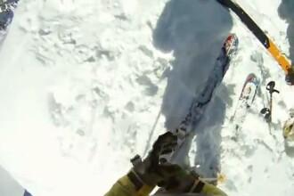 Imagini incredibile! S-a filmat in timp ce cadea de pe o stanca. VIDEO