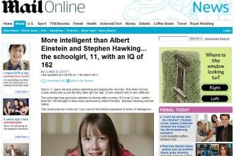Mai inteligenta decat Einstein si Napoleon. La 11 ani are IQ de 162