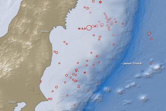 Calvarul japonez intr-un minut: 300 cutremure in 55 de ore. VEZI HARTA