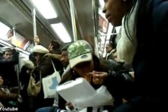 Cele mai nebune momente surprinse la metrou. VIDEO