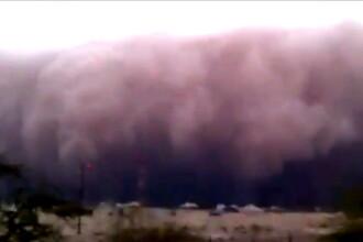 Video incredibil! Furtuna de nisip in Kuweit, peisaj apocaliptic