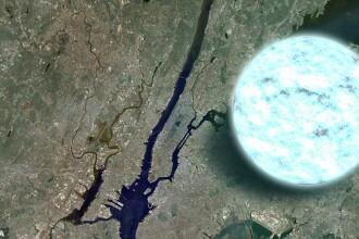 FOTO. Imaginea NASA care i-a speriat pe americani. Ce reprezinta sfera de deasupra New York-ului