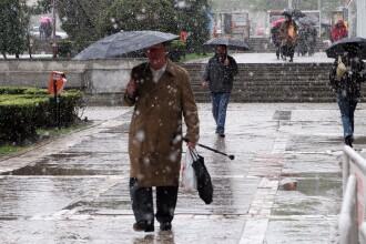 Temperaturi sub zero grade la noapte, in Timisoara. Meteorologii anunta ploi si lapovita