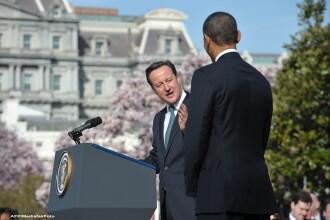 David Cameron in vizita la Barack Obama.