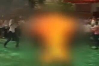 IMAGINI SOCANTE. Un tibetan si-a dat foc, in semn de protest fata de autoritatile chineze