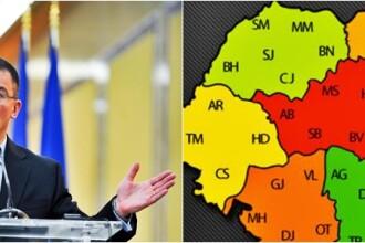 Premierul Ungureanu vrea reorganizarea administrativ-teritoriala a Romaniei. HARTA