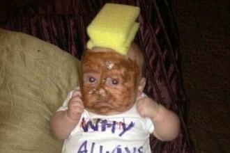 Poza care a creat indignare pe Twitter: ce i-au facut parintii acestui copil
