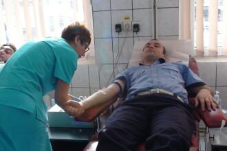 Gest umanitar: politistii si motociclistii din Caras-Severin au donat sange pentru a salva vieti