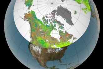 FOTO. Imaginea NASA care arata schimbarea dramatica din emisfera nordica a planetei